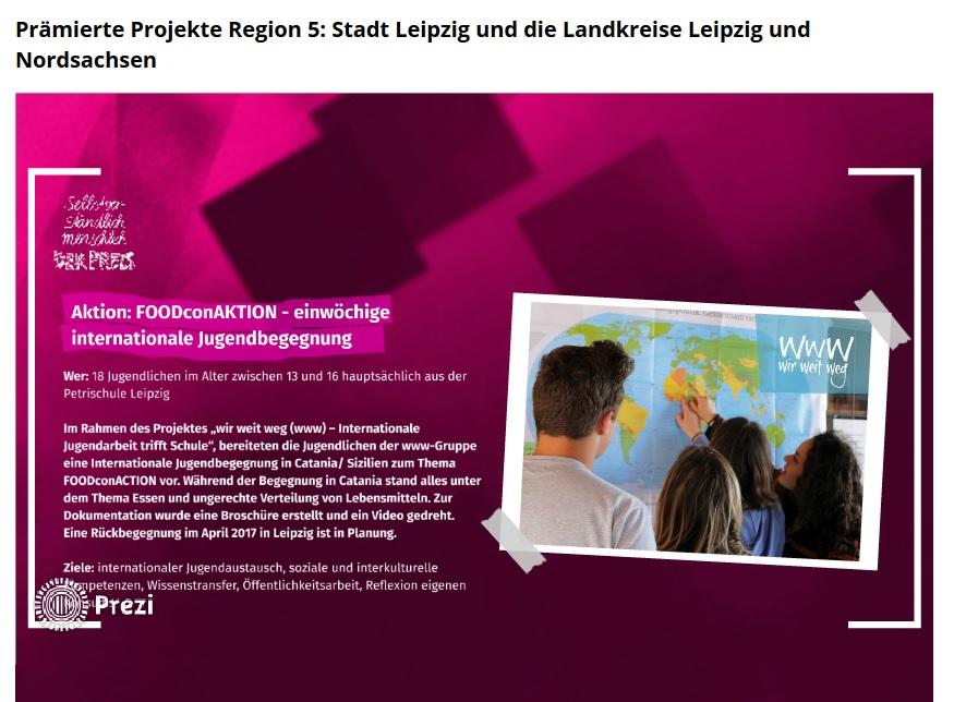 """""""selbstverständlich menschlich""""-Preis geht an die """"wir weit weg""""-Gruppe der Petrischule Leipzig"""